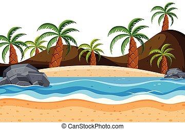 spiaggia palma, albero