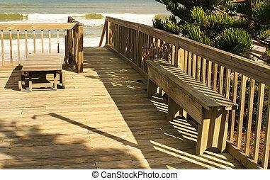 spiaggia, ponte