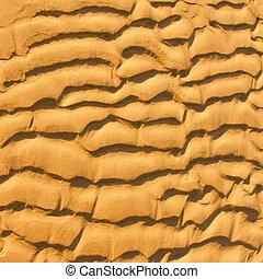spiaggia, primo piano, fondo, tessuto sabbia
