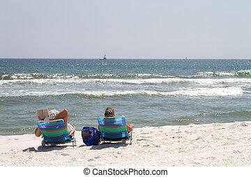 spiaggia, rilassante