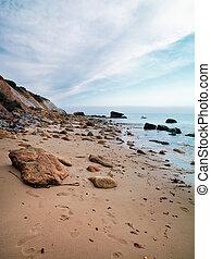 spiaggia, roccioso