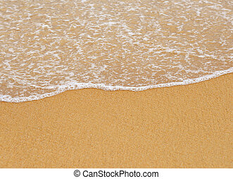 spiaggia sabbia, fondo, onda