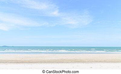 spiaggia sabbia, tailandese, mare, onde