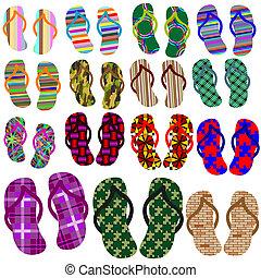spiaggia, scarpe, collezione