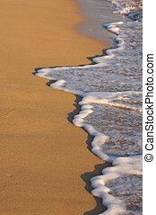 spiaggia, shoreline, lavare