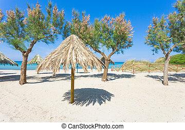 spiaggia, terme, apulia, -, genießen, der, ruhe, strand, von, spiaggia, terme