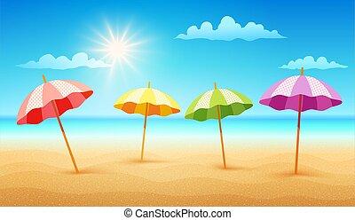 spiaggia tropicale, giorno pieno sole