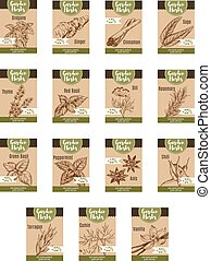 Spice and garden herb discount tag and label