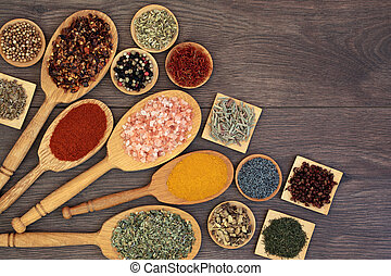 Spice and Herb Selection for Cooking