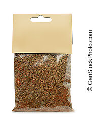 Spice and herbs mix - Pack of spice and herbs mix isolated ...