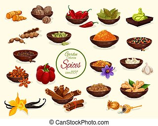 Spice, condiment and food seasoning poster
