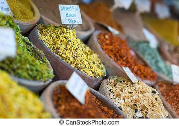 Spice market in the souks of Jerusalem