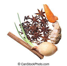 Spice Seasoning - Group of spice seasoning for beef noodle...