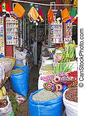 Spice shop in Marrakech Morocco