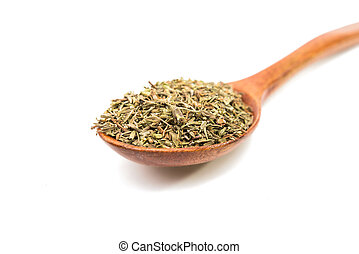 spice thyme on a white background