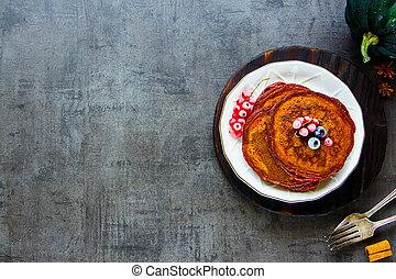 Spiced pumpkin pancake