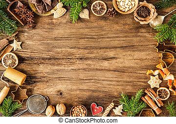spices, для, рождество, cakes