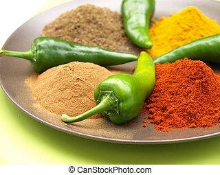 spices, на, пластина
