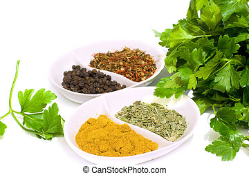 spices, and, травы, для, готовка