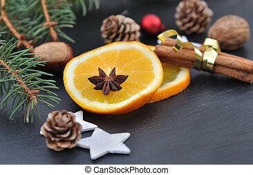 spices and orange