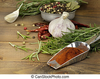 Spices Assortment - Assortment Of Spices On A Wooden ...