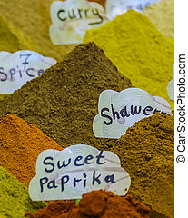 Spices at Street Market, Old Jerusalem