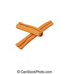 spices. cinnamon - Spices. cinnamon, vector isolated objects...