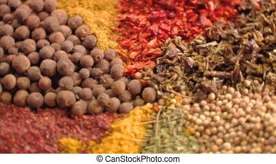 Spices close up