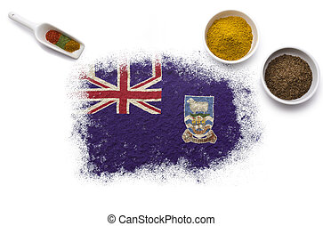 Spices forming the flag of Falkland Islands.(series)