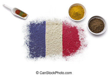Spices forming the flag of French Guiana.(series)