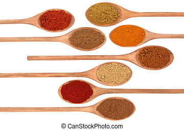 Spices - Ground spice of ginger, allspice, cayenne pepper, ...