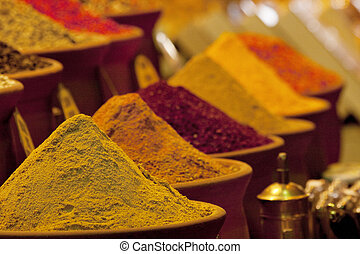 Spices in market - Oriental spices in market