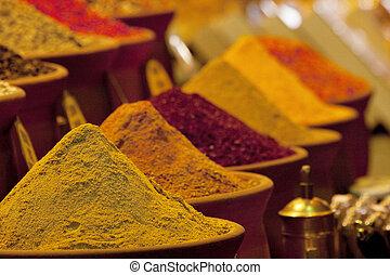 Spices in market - Oriental spices in market