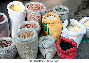 spices in sacks  2