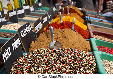 spices in the market