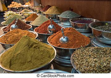 Spices market in Yehuda Mahane, Jerusalem, Israel