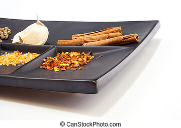 Spices on a saucer