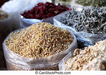 Spices on the Middle East market