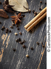 Spices on Weathered Timber