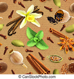 Spices seamless pattern
