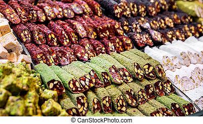 Spices, teas at the bazaar