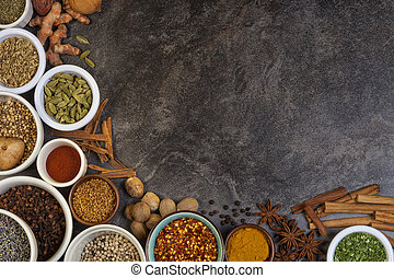 Spices used in Cooking - Selection of spices used in cooking...