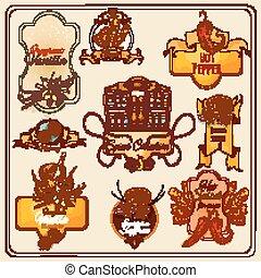 Spices Vintage Labels