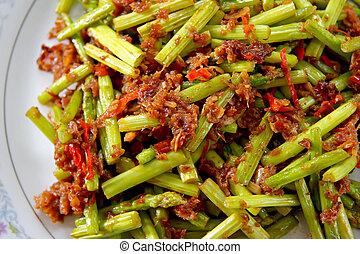Spicy asparagus