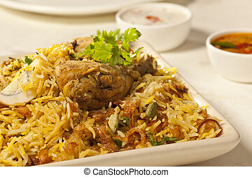 Spicy Chicken biryani from India - Hot delicious chicken...