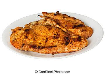 Spicy Chicken - Spicy grilled chicken on plate