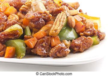 Spicy chinese food, Kung Pao Chicken with peanuts