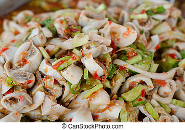 spicy chitterlings salad