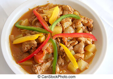 Spicy curry - Spicy red meat curry traditional asian cuisine...