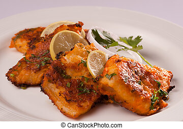 Spicy Fish Tikka. - Spicy Fish Tikka is made from fish...